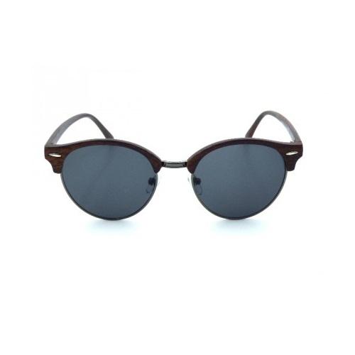 zonnebril-clubmaster-hout-blauw