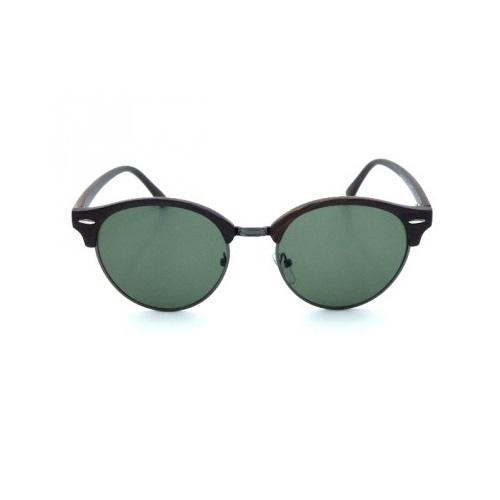 zonnebril-clubmaster-hout-donker-groen