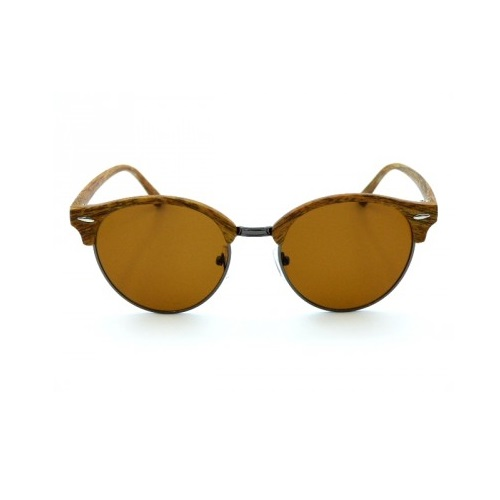 zonnebril-clubmaster-hout-licht-bruin